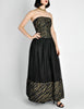 Chanel Vintage Black & Gold Silk & Tulle Evening Gown - Amarcord Vintage Fashion  - 9