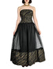 Chanel Vintage Black & Gold Silk & Tulle Evening Gown - Amarcord Vintage Fashion  - 1