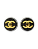 Chanel Vintage Black and Gold CC Logo Earrings - Amarcord Vintage Fashion  - 1