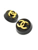 Chanel Vintage Black and Gold CC Logo Earrings - Amarcord Vintage Fashion  - 3