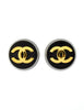 Chanel Vintage Black and Gold CC Logo Earrings - Amarcord Vintage Fashion  - 2