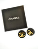 Chanel Vintage Black and Gold CC Logo Earrings - Amarcord Vintage Fashion  - 5