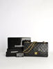 Chanel Vintage Black Quilted Lambskin Leather Classic Double Flap Bag - Amarcord Vintage Fashion  - 14