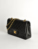 Chanel Vintage Black Quilted Lambskin Leather Classic Double Flap Bag - Amarcord Vintage Fashion  - 3
