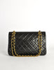 Chanel Vintage Black Quilted Lambskin Leather Classic Double Flap Bag - Amarcord Vintage Fashion  - 4