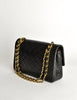 Chanel Vintage Black Quilted Lambskin Leather Classic Double Flap Bag - Amarcord Vintage Fashion  - 5