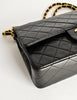 Chanel Vintage Black Quilted Lambskin Leather Classic Double Flap Bag - Amarcord Vintage Fashion  - 7