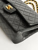Chanel Vintage Black Quilted Lambskin Leather Classic Double Flap Bag - Amarcord Vintage Fashion  - 8