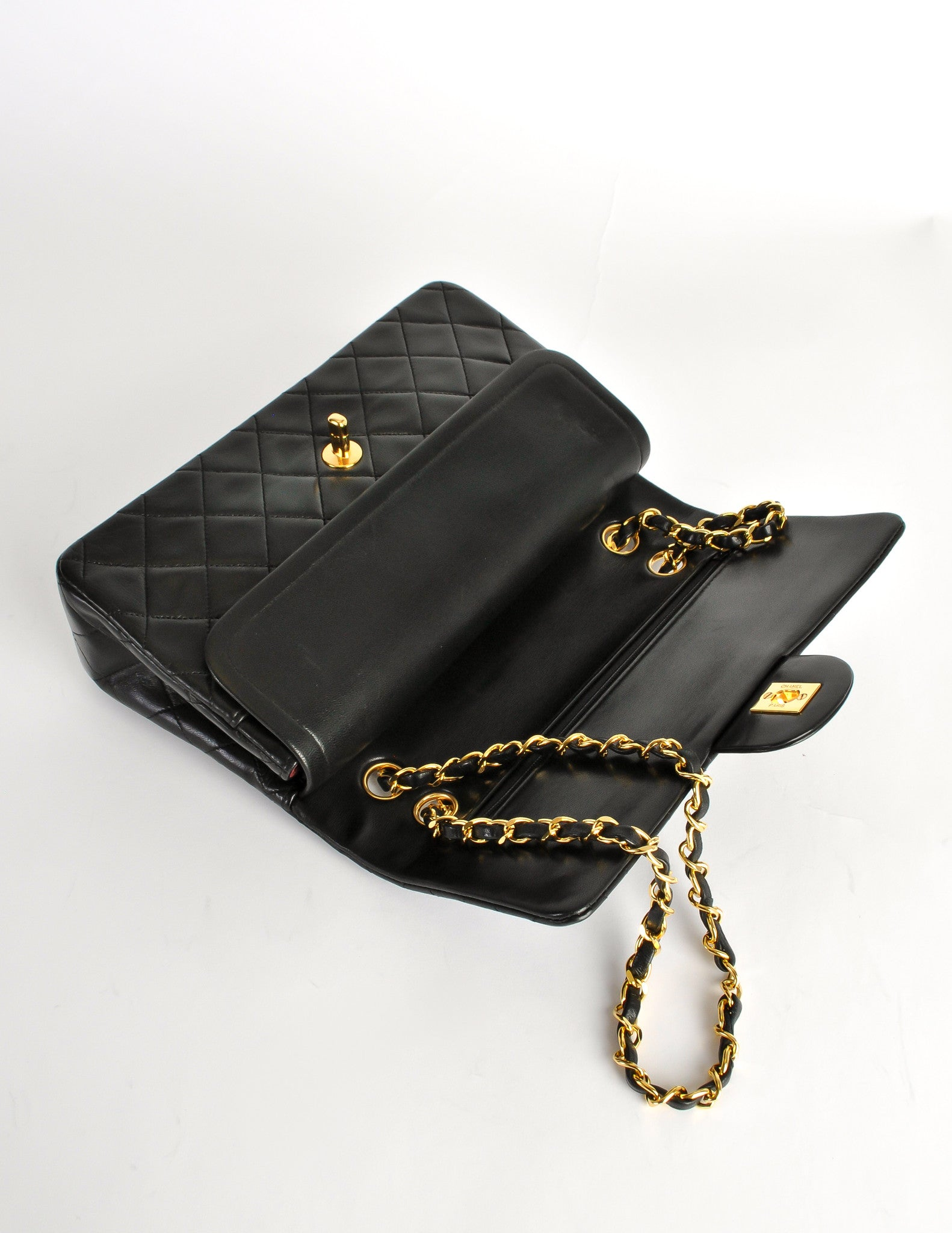 c3793009e72 Chanel Vintage Black Quilted Lambskin Leather Classic Double Flap Bag -  Amarcord Vintage Fashion - 9