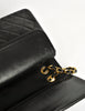 Chanel Vintage Black Quilted Lambskin Leather Classic Double Flap Bag - Amarcord Vintage Fashion  - 10