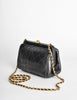 Chanel Vintage Black Quilted Crossbody Bag - Amarcord Vintage Fashion  - 2