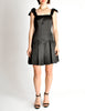 Chanel Vintage Black Satin Bow Pleated Dress - Amarcord Vintage Fashion  - 2