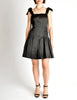 Chanel Vintage Black Satin Bow Pleated Dress - Amarcord Vintage Fashion  - 3