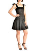Chanel Vintage Black Satin Bow Pleated Dress - Amarcord Vintage Fashion  - 1