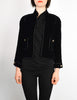 Chanel Vintage Cropped Black Velvet Jacket - Amarcord Vintage Fashion  - 2