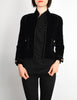 Chanel Vintage Cropped Black Velvet Jacket - Amarcord Vintage Fashion  - 3