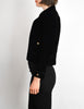Chanel Vintage Cropped Black Velvet Jacket - Amarcord Vintage Fashion  - 4