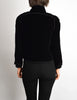 Chanel Vintage Cropped Black Velvet Jacket - Amarcord Vintage Fashion  - 7