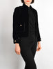 Chanel Vintage Cropped Black Velvet Jacket - Amarcord Vintage Fashion  - 5