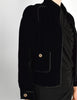 Chanel Vintage Cropped Black Velvet Jacket - Amarcord Vintage Fashion  - 6