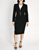Chanel Vintage Black Wool Sparkly Two-Piece Suit - Amarcord Vintage Fashion  - 2