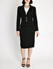 Chanel Vintage Black Wool Sparkly Two-Piece Suit - Amarcord Vintage Fashion  - 4