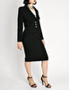 Chanel Vintage Black Wool Sparkly Two-Piece Suit - Amarcord Vintage Fashion  - 6