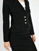 Chanel Vintage Black Wool Sparkly Two-Piece Suit - Amarcord Vintage Fashion  - 3