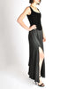 Chanel Vintage Black Velvet Chiffon Corset Dress & Bolero Jacket - Amarcord Vintage Fashion  - 8