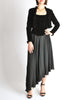 Chanel Vintage Black Velvet Chiffon Corset Dress & Bolero Jacket - Amarcord Vintage Fashion  - 3