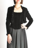 Chanel Vintage Black Velvet Chiffon Corset Dress & Bolero Jacket - Amarcord Vintage Fashion  - 9