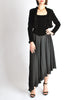 Chanel Vintage Black Velvet Chiffon Corset Dress & Bolero Jacket - Amarcord Vintage Fashion  - 5