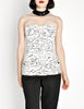Chanel Vintage Black & White Graphic Silk Bustier Top - Amarcord Vintage Fashion  - 8