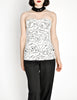 Chanel Vintage Black & White Graphic Silk Bustier Top - Amarcord Vintage Fashion  - 9