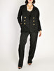Chanel Vintage Black Wool Double Breasted Jacket - Amarcord Vintage Fashion  - 2