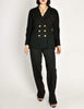 Chanel Vintage Black Wool Double Breasted Jacket - Amarcord Vintage Fashion  - 3