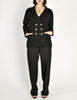 Chanel Vintage Black Wool Double Breasted Jacket - Amarcord Vintage Fashion  - 5