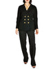 Chanel Vintage Black Wool Double Breasted Jacket - Amarcord Vintage Fashion  - 1