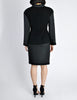 Chanel Vintage Black Boucle Wool & Linen Two-Piece Suit - Amarcord Vintage Fashion  - 7