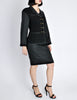 Chanel Vintage Black Boucle Wool & Linen Two-Piece Suit - Amarcord Vintage Fashion  - 6