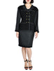 Chanel Vintage Black Boucle Wool & Linen Two-Piece Suit - Amarcord Vintage Fashion  - 1