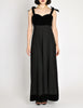 Chanel Vintage Black Velvet & Wool Maxi Evening Dress - Amarcord Vintage Fashion  - 4