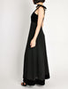 Chanel Vintage Black Velvet & Wool Maxi Evening Dress - Amarcord Vintage Fashion  - 6