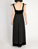 Chanel Vintage Black Velvet & Wool Maxi Evening Dress - Amarcord Vintage Fashion  - 7