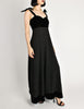 Chanel Vintage Black Velvet & Wool Maxi Evening Dress - Amarcord Vintage Fashion  - 3