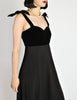 Chanel Vintage Black Velvet & Wool Maxi Evening Dress - Amarcord Vintage Fashion  - 5