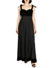 Chanel Vintage Black Velvet & Wool Maxi Evening Dress - Amarcord Vintage Fashion  - 1