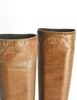 Chanel Vintage Brown Leather Heeled Boots - Amarcord Vintage Fashion  - 5