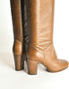 Chanel Vintage Brown Leather Heeled Boots - Amarcord Vintage Fashion  - 7