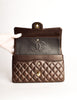 Chanel Vintage Chocolate Brown Quilted 2.55 Medium Classic Double Flap Bag